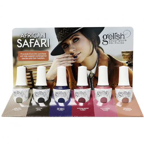[Harmony Gelish] African Safari 2018 Collection 6pc (1110314~1110319)